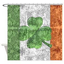 St. Patricks Day Flag Shower Curtain
