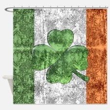 St. Patricks Day Flag Shower Curtain
