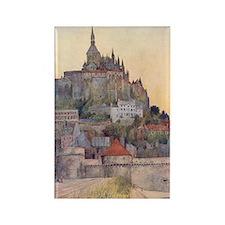 Vintage Mont St-Michel Rectangle Magnet