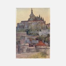 Vintage Mont St-Michel Rectangle Magnet