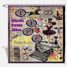 Words Come Alive Shower Curtain