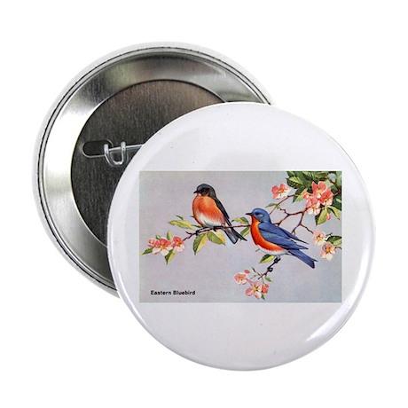 """Eastern Bluebird Bird 2.25"""" Button (10 pack)"""