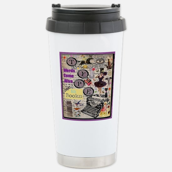 Words Come Alive Stainless Steel Travel Mug