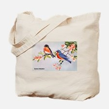 Eastern Bluebird Bird Tote Bag