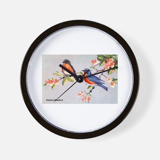 Eastern Bluebird Bird Wall Clock