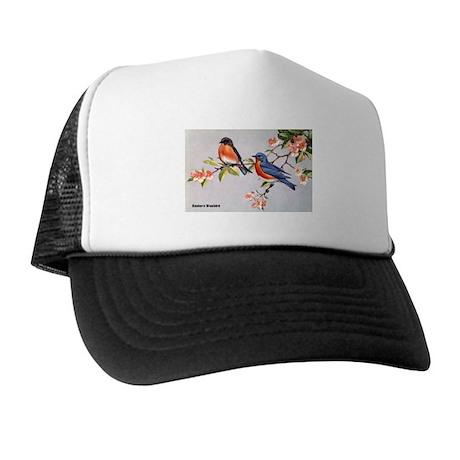 Eastern Bluebird Bird Trucker Hat