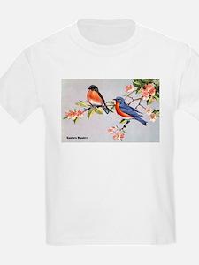 Eastern Bluebird Bird (Front) T-Shirt