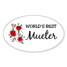 WB Mom [Swiss] Oval Decal