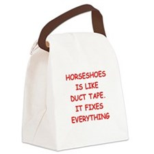 horseshoes Canvas Lunch Bag
