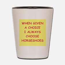 horseshoes Shot Glass