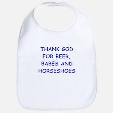 HORSESHOES Bib