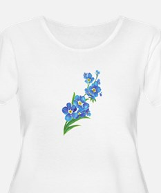Forget Me Not Flower Watercolor Painting Plus Size