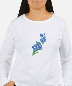 Forget Me Not Flower Watercolor Painting Long Slee