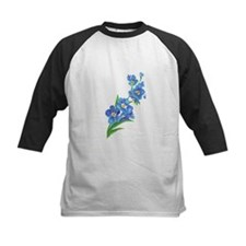 Forget Me Not Flower Watercolor Painting Baseball