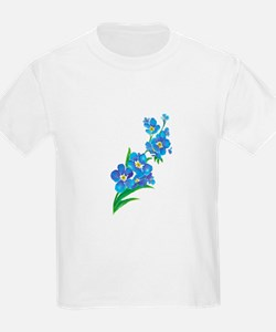 Forget Me Not Flower Watercolor Painting T-Shirt