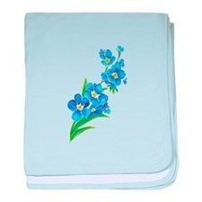 Forget Me Not Flower Watercolor Painting baby blan