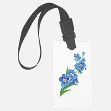 Forget Me Not Flower Watercolor Luggage Tag