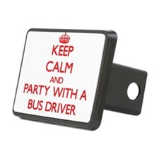 Keep Calm and Party With a Bus Driver Hitch Cover