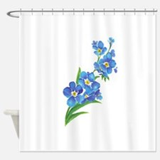 Forget Me Not Flower Watercolor Painting Shower Cu