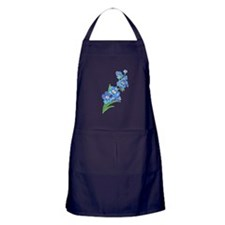 Forget Me Not Flower Watercolor Painting Apron (da