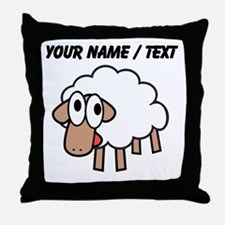 Custom Cartoon Sheep Throw Pillow