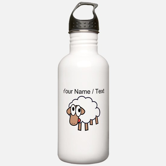 Custom Cartoon Sheep Water Bottle