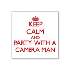 Keep Calm and Party With a Camera Man Sticker