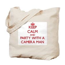 Keep Calm and Party With a Camera Man Tote Bag