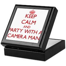Keep Calm and Party With a Camera Man Keepsake Box