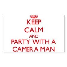 Keep Calm and Party With a Camera Man Decal