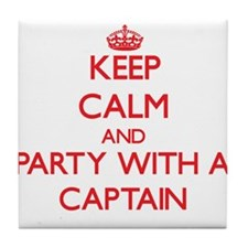 Keep Calm and Party With a Captain Tile Coaster