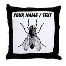 Custom Housefly Throw Pillow