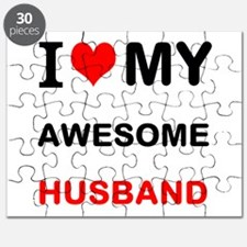 I Love My Awesome Husband Puzzle