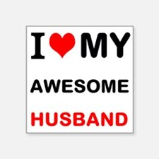 I Love My Awesome Husband Sticker