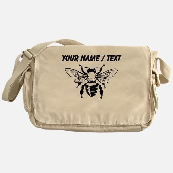 Custom Honey Bee Messenger Bag