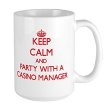 Keep Calm and Party With a Casino Manager Mugs