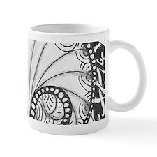 Abalone Sea Shell Beach Theme in Black  Mug