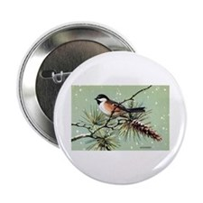 Chickadee Bird Button