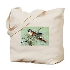 Chickadee Bird Tote Bag