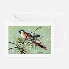 Chickadee Bird Greeting Cards (Pk of 10)