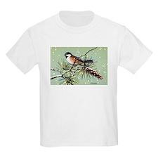 Chickadee Bird (Front) T-Shirt