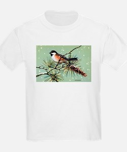 Chickadee Bird (Front) T-Shirt
