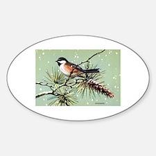 Chickadee Bird Oval Decal