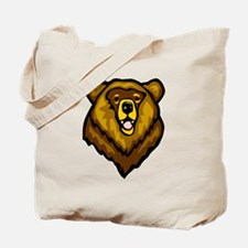 Grizzly Bear Face Tote Bag