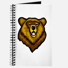 Grizzly Bear Face Journal