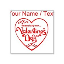 Custom Red Valentines Day Heart Sticker