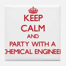 Keep Calm and Party With a Chemical Engineer Tile