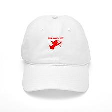 Custom Red Cupid Silhouette Baseball Baseball Cap