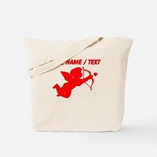 Custom Red Cupid Silhouette Tote Bag
