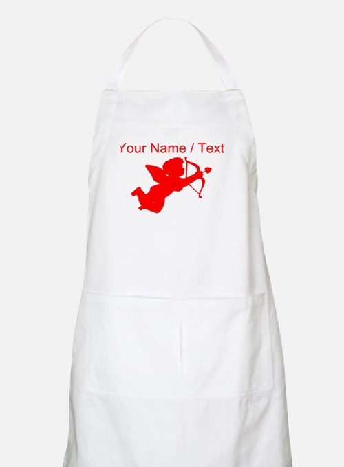 Custom Red Cupid Silhouette Apron